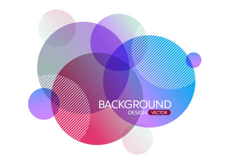 Abstract geometric round circle shapes background for design,vector background