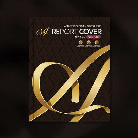 background cover: Modern Vector design template with luxury ribbon golden shape pattern background design for corporate business annual report book cover brochure poster,vector illustration