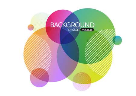 Abstract geometrische ronde cirkel vormen de achtergrond voor ontwerp, vector achtergrond