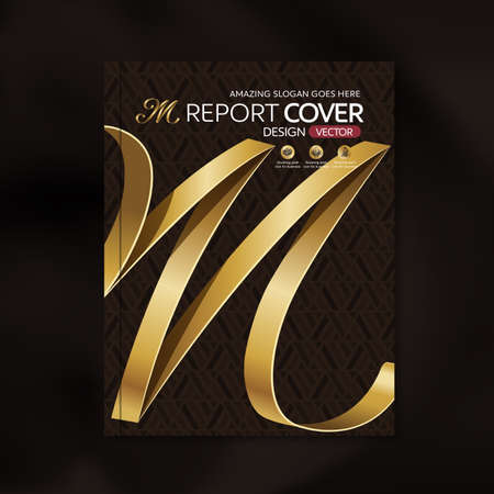 luxury template: Modern Vector design template with luxury ribbon golden shape pattern background design for corporate business annual report book cover brochure poster,vector illustration