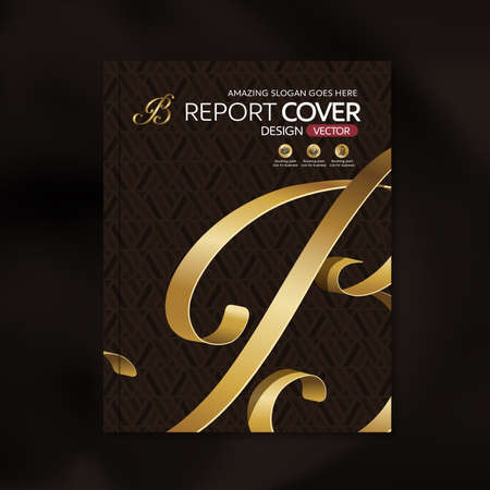 business card template: Modern Vector design template with luxury ribbon golden shape pattern background design for corporate business annual report book cover brochure poster,vector illustration