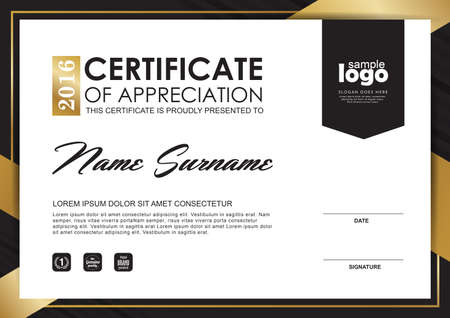 stock certificate: certificate template with Luxury and modern pattern,Qualification certificate blank template with elegant,Vector illustration