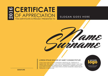 certificate template: certificate template with Luxury and modern pattern,Qualification certificate blank template with elegant,Vector illustration
