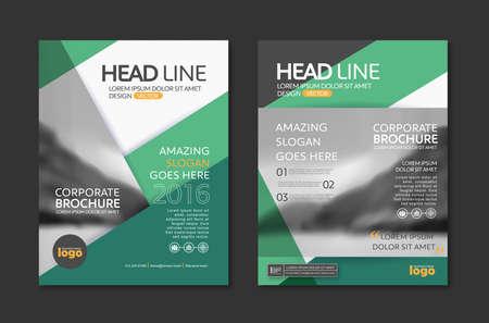 Vector Broschüre Flyer Design-Layout-Vorlage im A4-Format Vektorgrafik
