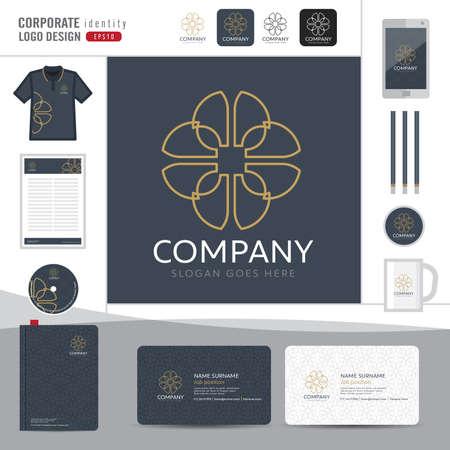 boutique hotel: Abstract monogram elegant logo design,Abstract Logotype corporate identity template,Corporate identity,Abstract emblem,boutique hotel,restaurant,vector illustrator Vectores