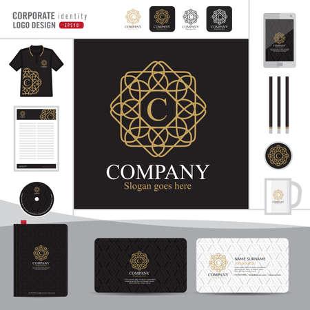 royal logo: Abstract monogram elegant logo design,Abstract Logotype corporate identity template,Corporate identity,Abstract emblem,boutique hotel,restaurant,vector illustrator Illustration