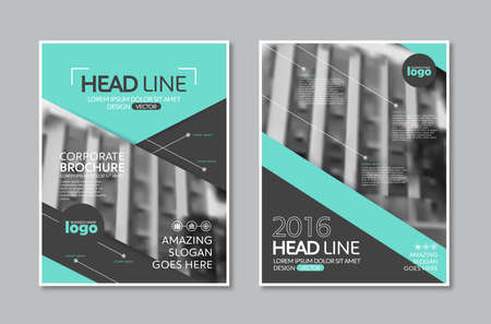 profile: Vector Brochure Flyer design Layout template in A4 size Illustration