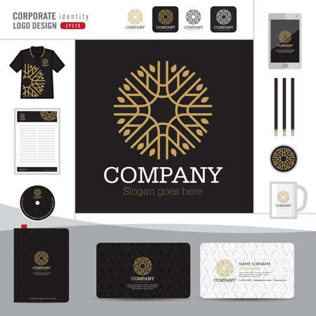 Abstract monogram elegant logo design,Abstract Logotype corporate identity template,Corporate identity,Abstract emblem,boutique hotel,restaurant,vector illustrator Illustration