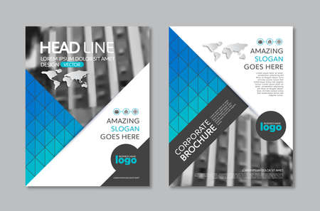 Vector Brochure Flyer design Layout template in A4 size Illustration