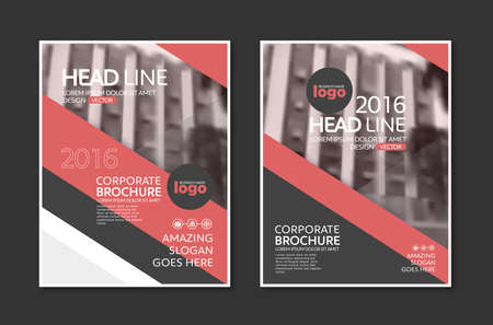 ad: Vector Brochure Flyer design Layout template in A4 size Illustration