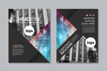 Brochure design Layout template in A4 size Ilustracja
