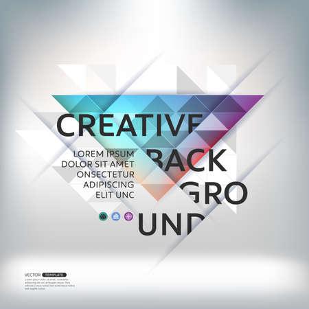 abstracte achtergrond en geometrische vormen. ontwerplay-out voor bedrijfspresentaties, posters. Wetenschappelijke toekomstige technologische achtergrond. Geometrie veelhoek. Stock Illustratie