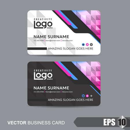 smart card: business card template,illustration Illustration
