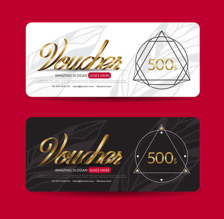 photos of pattern: discount voucher template with clean and modern pattern and place for your business related photos. Vector illustration