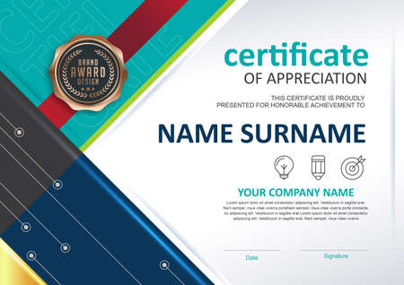 certificate template ,Vector illustration