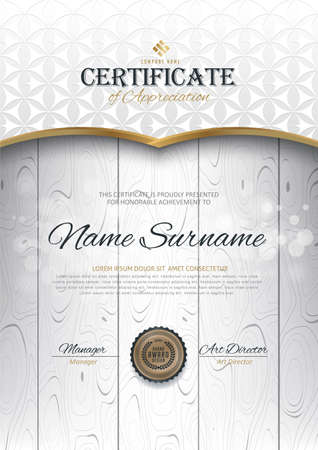 luxury template: certificate template with Luxury golden elegant pattern,Vector illustration