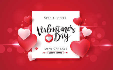 Valentines day sale background with icon set pattern. Vector illustration.Wallpaper.flyers, invitation, posters, brochure, banners. Banco de Imagens - 69063474