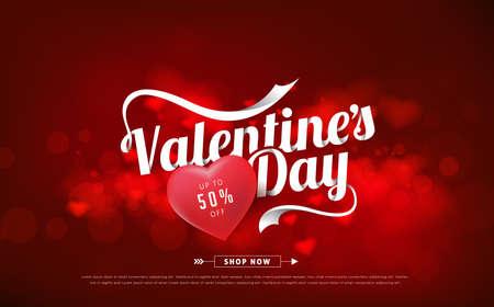 Fondo de venta de día de San Valentín. Vector illustration.Wallpaper.flyers, invitación, carteles, folleto, pancartas.