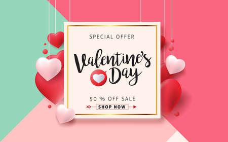 De verkoopachtergrond van de valentijnskaartendag met pictogram vastgesteld patroon. Vector illustration.Wallpaper.flyers, uitnodiging, posters, brochure, banners.