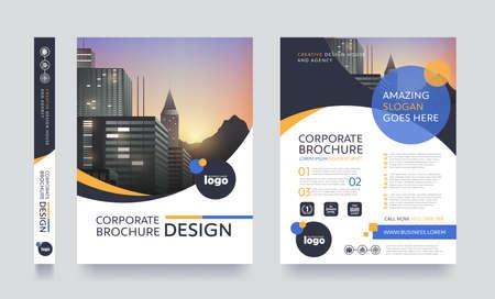 brochure: Cartel del espacio del volante cubierta del folleto folleto de diseño de diseño para el fondo de la foto, plantilla de vector de tamaño A4