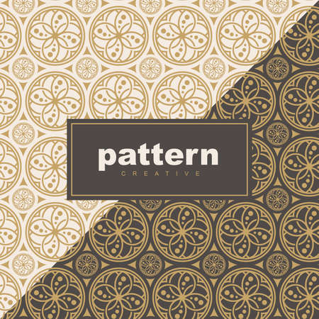 abstract vintage geometric wallpaper pattern background for packaging of product. Vector illustration
