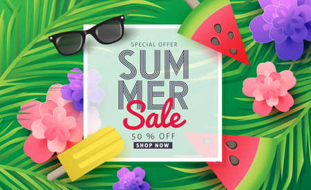 sun cream: Summer sale background layout for banners, Wallpaper, flyers, invitation, posters, brochure, voucher discount.Vector illustration template. Illustration