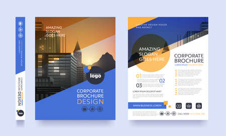poster flyer pamphlet brochure cover design layout space for photo background, vector template in A4 size Vettoriali