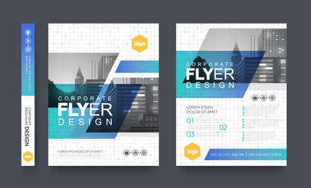 poster flyer pamphlet brochure cover design layout space for photo background, vector template in A4 size Иллюстрация