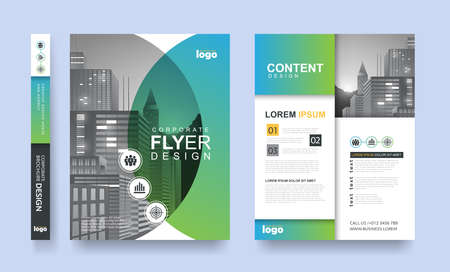 ポスター ・ フライヤー ・ パンフレット パンフレット カバー デザイン レイアウト空間画像パターン、ベクトル テンプレート A4 サイズで