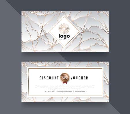 Gift Voucher discount template. Vector illustration.