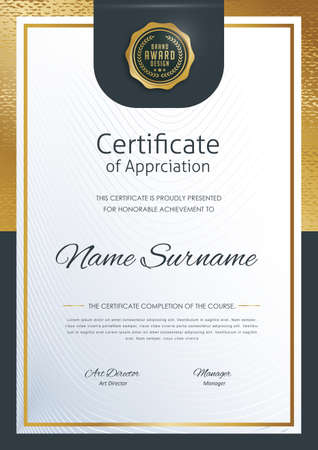 certificate template with modern pattern,diploma,Vector illustration Illustration