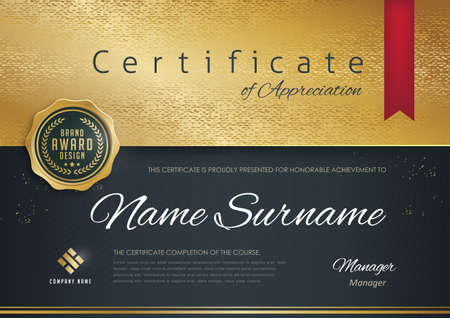 certificate template with modern pattern,diploma,Vector illustration Иллюстрация