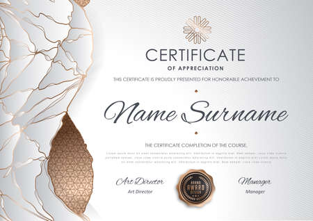luxury template: certificate template with luxury pattern,diploma,Vector illustration Illustration