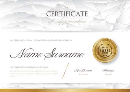 Zertifikatvorlage mit Luxusmuster, Diplom, Vektorillustration Standard-Bild - 79162327
