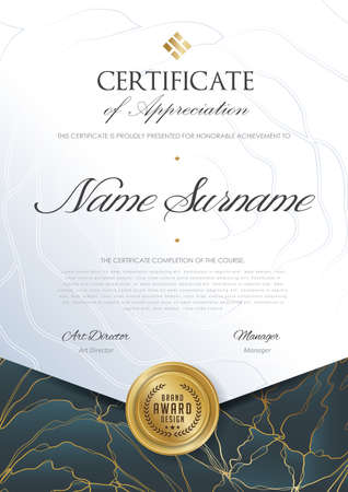certificate template with luxury pattern,diploma,Vector illustration Иллюстрация