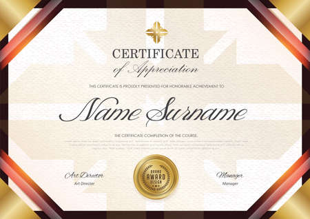 certificate template with luxury pattern, diploma,Vector illustration.
