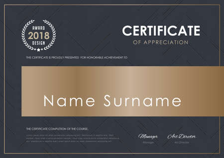 Een certificaatsjabloon met luxe patroon, diploma, vectorillustratie.