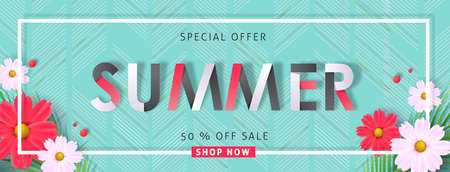 Summer sale background layout banners .voucher discount.Vector illustration template. Illustration