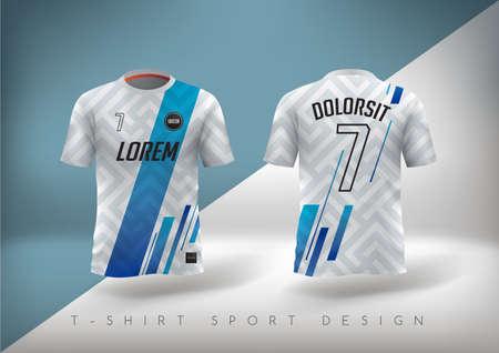 Soccer t-shirt design slim-fitting with round neck. Stock Illustratie