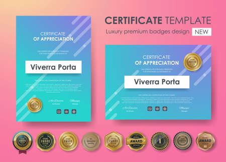 Certificate template with modern pattern.