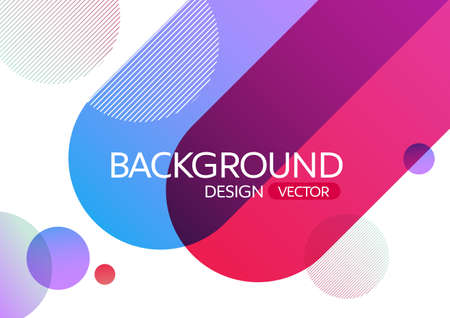 Abstract geometric round circle shapes gradient color background for design,vector background Stock Illustratie
