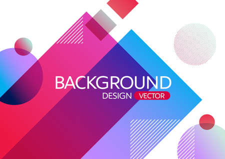 Abstract geometric round circle shapes gradient color background for design,vector background  イラスト・ベクター素材
