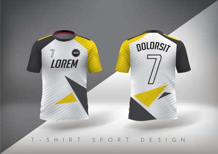 Voetbal t-shirt ontwerp slank-fit met ronde hals. Vector illustratie