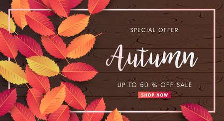 Calligraphie d'automne. Illustration saisonnière lettrage.vector Banque d'images - 84895161
