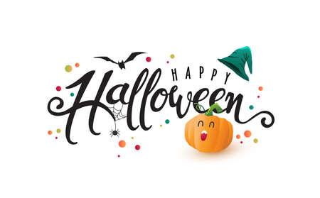 Calligraphie d'halloween heureuse.