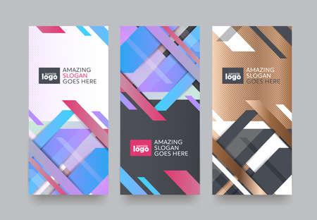 Vecteur défini des modèles d'emballage avec une texture différente pour la conception de products.logo de luxe avec illustration linéaire trendy style.vector