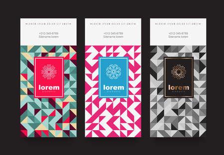 Vector Set Verpackung Vorlagen mit verschiedenen Textur für Luxus products.logo Design mit trendigen linearen style.vector Illustration Standard-Bild - 88392086