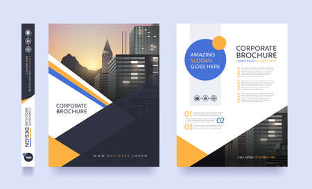 poster flyer pamphlet brochure cover design layout space for photo background, vector template in A4 size 일러스트