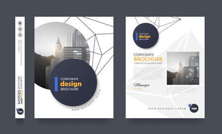 Poster pamphlet brochure cover design layout space for photo background, vector template.