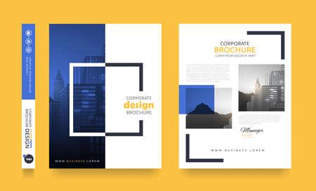 Espacio de la disposición de diseño de la cubierta del folleto del folleto del aviador del cartel para el fondo de la foto, plantilla del vector. Ilustración de vector